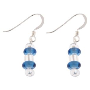 Cobalt Rings & Barrels Earrings