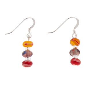Spring Reds Millefiori Earrings