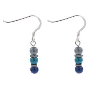 Blues Miracle & Haematite Earrings
