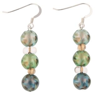 Green Autumn Lustre Earrings