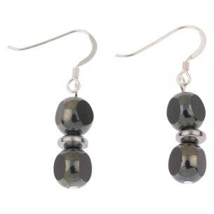 Black Notches Earrings