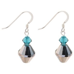 Teal Lantern Earrings