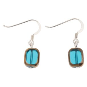 Teal Golden Edges Earrings