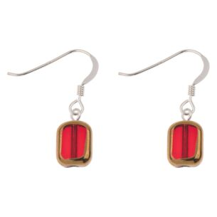 Red Golden Edges Earrings