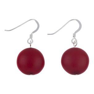Red Happy Earrings