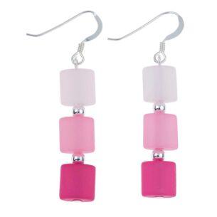 Pink Ellipses Earrings
