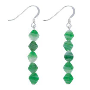 Green Ice Floe Earrings