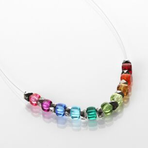 Rainbow Sparkle Links Necklace