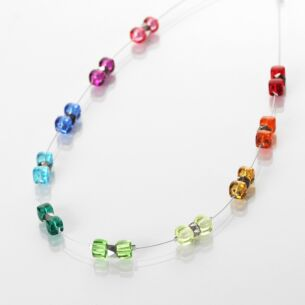 Carrie Elspeth Rainbow Sparkle Spaced Necklace