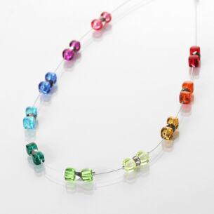 Rainbow Sparkle Spaced Necklace