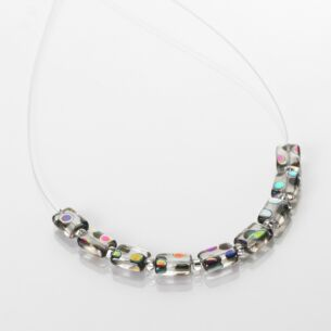 Carrie Elspeth Clear Dotty Rectangle Links Necklace