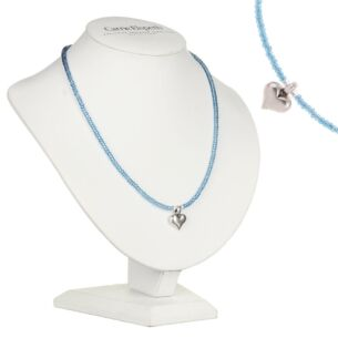 Carrie Elspeth Blue Heart Strings Necklace
