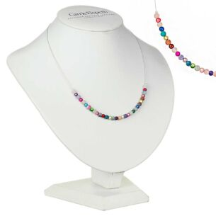 Rainbow Miracle & Agate Links Necklace