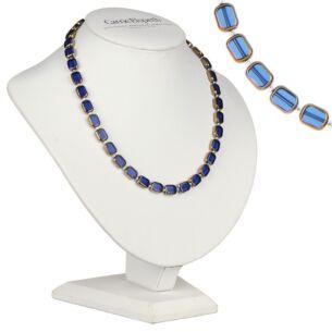 Blue Golden Edges Necklace