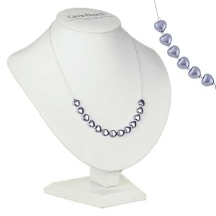 Lilac Pearl Hearts Necklace