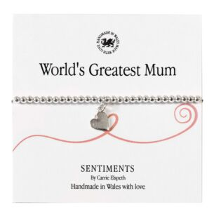 World's Greatest Mum Sentiment Bracelet