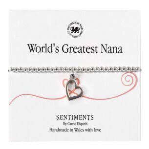 World's Greatest Nana Sentiment Bracelet