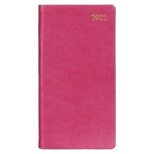 Fuchsia Pink Faux Leather 2022 Slim Diary