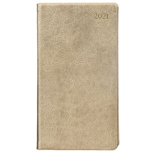 Gold Leather 2021 Slim Diary