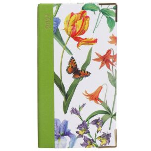 White Redoute Floral 2021 Slim Diary