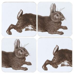 Rabbit & Cabbage Set of 4 Coasters