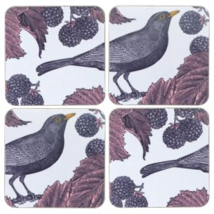 Blackbird & Bramble Set of 4 Coasters