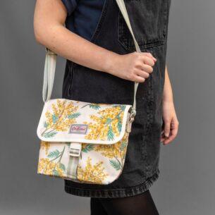 Mimosa Flower Buckle Cross Body Bag