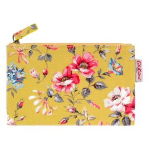 Small Yellow Pembroke Rose Zip Purse