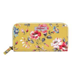 Cath Kidston Yellow Pembroke Rose Continental Zip Wallet
