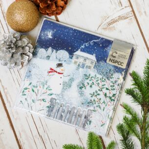 Snowman Pack of 6 Christmas Cards Charity Pack