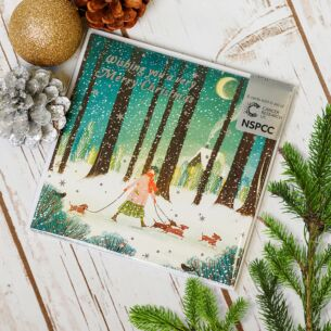Forest Dog Walk Pack of 6 Christmas Cards Charity Pack