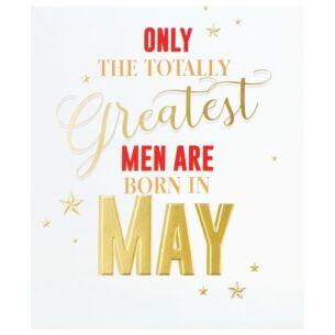 Men 'Born in May' Birthday Card