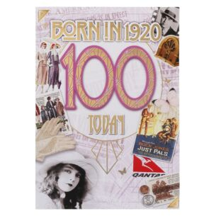 Down Memory Lane Pink '100 Today' Card