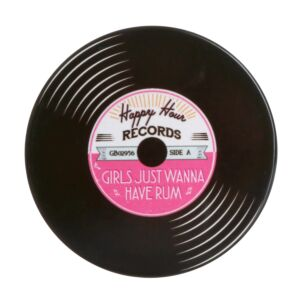 'Girls Just Wanna Have Rum' Record Coaster