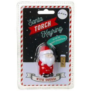 Santa Torch Keyring with Sound