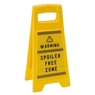 'Spoiler Free Zone' Desk Sign