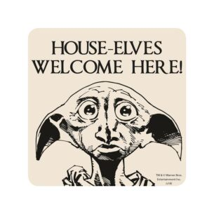 'House- Elves Welcome here!' Coaster
