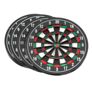 Set of 4 Dartboard Coasters