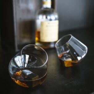 Set of Two Rocking Whisky Glasses