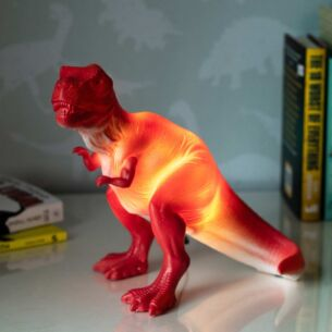 Large Red T-Rex Lamp