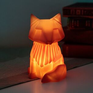 Small LED Orange Fox Origami Light