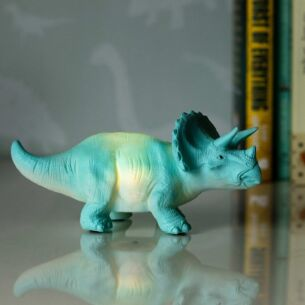 Small LED Turquoise Triceratops Light