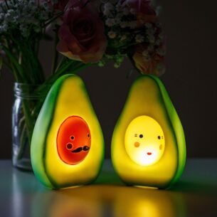 Small LED Set of Two Avocado Lights