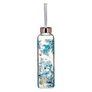 Luxe Crane Glass Water Bottle