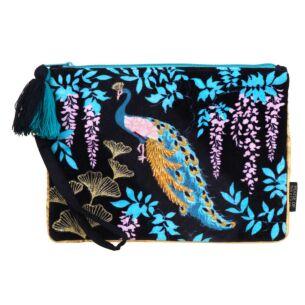 Luxe Peacock Clutch Bag