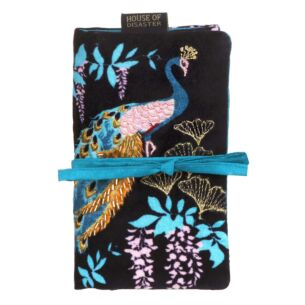 Luxe Peacock Make Up Brush Roll