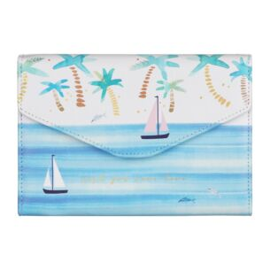 By The Sea Palm Tree Travel Wallet