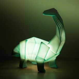 Large Green Dinosaur Origami Lamp