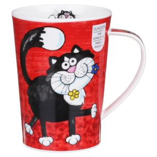 Funny Farm Cat Argyll Shape Mug