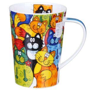 Hide and Seek Cats Argyll Shape Mug